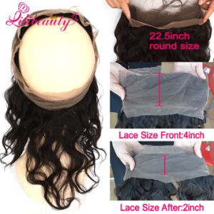 Hot Sale 360 Lace Frontal Closure Deep Wave 9A Peruvian Virgin Hair 360 Full Lace Band Frontal Closure with Baby Hair Human Hair pictures & photos