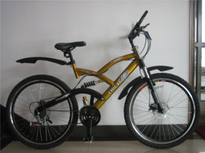 26 Inches Suspention Bike with Disc Brake Alloy Pedal (HC-MTB-2605) pictures & photos