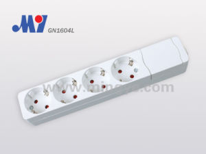 4 Ways German Socket (extended body) , W/O Cable (GN1604L)