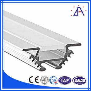 6063-T5 White Anodized Aluminum/Aluminium LED Profile with Frosted Cover pictures & photos