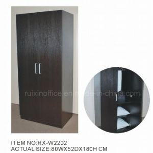 Multifunctional Black Melamine Wardrobe (RX-W2202)