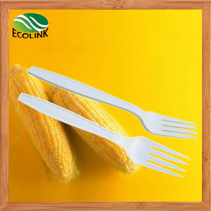 Disposable Biodegradable Cornstarch Fork 170mm pictures & photos