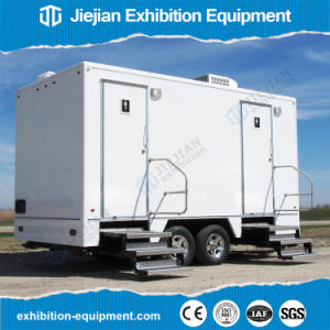 Mobile Temporary Luxury Porta Potty Toilets Trailer for Sale pictures & photos