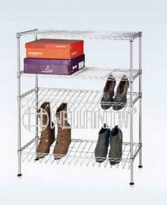 Modern 4 Tier DIY Adjustable Chrome Steel Shoe Shelf Holder Factory pictures & photos