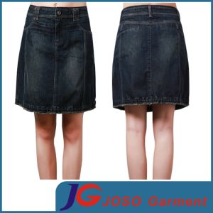 China Women Knee Length A-Line Denim Skirts (JC2095) - China Knee ...