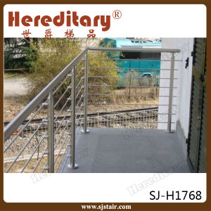 Exterior 316 Stainless Steel Balcony Steel Cable Railing Design (SJ-H1830) pictures & photos