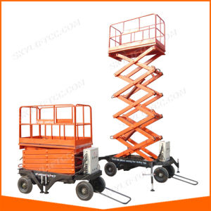 Sjy 4~18m Movable Scissor Lift with Four Supporting Legs pictures & photos