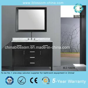 New Design MDF Bathroom Vanity Floor Mounted Bathroom Cabinet (BLS-NA039) pictures & photos