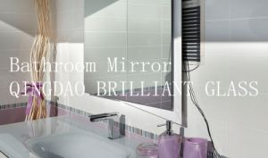 3mm, 4mm, 5mm, 6mm Bathroom Glass Mirror with Safety Film