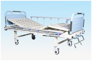 Movable Full-Fowler Hospital Bed with ABS Head B14 pictures & photos