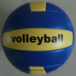 Made in China Custom Logo PVC Leather Machine-Sewn Volleyball pictures & photos