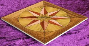 3mm Teak Wooden Veneer Art Parquet Wood Floor pictures & photos