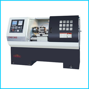 Siemens Big Spindle Bore Flat Bed CNC Lathe Machine for Sale Ck6136s