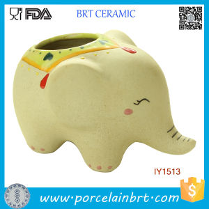 Creative Cute Ceramic Elephant Garden Pot pictures & photos