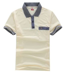 Pima Cotton Polo Shirt Factory Custom Fashion Polo Shirt with Pocket pictures & photos
