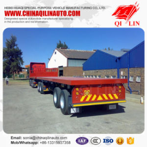 2 Axle Flatbed Utility Superlink Cargo Truck Semi Trailer with Fifth Wheel pictures & photos