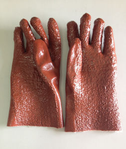 Good Quality Rubber Dipped Working Glove 017r pictures & photos