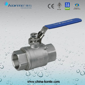 Stainless Steel Threaded 2PC Ball Valve with Lock Device pictures & photos
