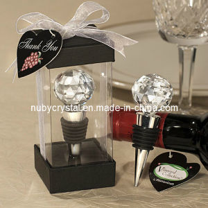 Crystal Wedding Favors Faceted Ball Wine Stopper (WF-4010) pictures & photos