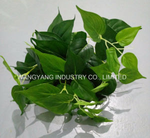 Artificial Fake Synthetic Green Leaves for Wall Decoration pictures & photos