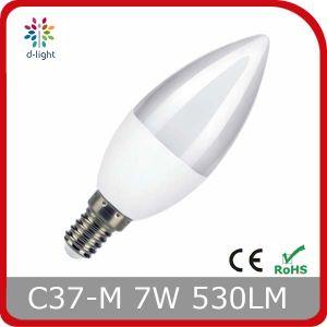 C37 LED Bulb Plastic Aluminum Candle Shape 4W 350lm pictures & photos