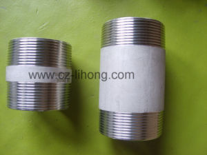 Stainless Steel Pipe Fitting 316L DIN 2999 Barrel Nipple From Pipe pictures & photos