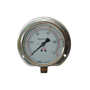 4inch-100mm Half Stainless Steel Bottom Pressure Gauge with Flange pictures & photos