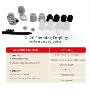 Rooth C&P Gunsport High-Definition Electronic Shooting Earplugs pictures & photos