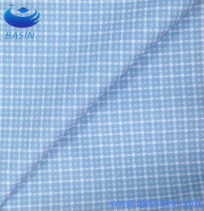 Sky Blue Printing Checks Gingham Polyester Fabric (BS8131-1) pictures & photos
