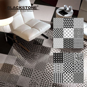 600X600 Glazed Polished Porcelain White and Black Flooring Tile (6600201) pictures & photos