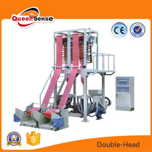 Double Head Film Extruder LDPE HDPE Film Blowing Machine pictures & photos