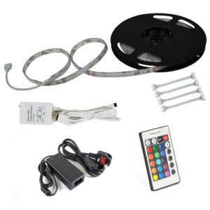 RGB 300LEDs 5050 SMD LED Tape Strip Light Kit +5A Adapter IR Controller pictures & photos
