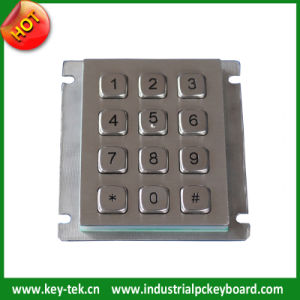 12 Keys Vandal Proof Waterproof Matrix Keypad for Ticket Vending Machines