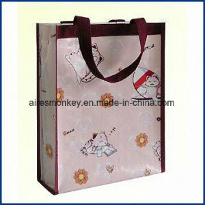 Cheap Folding Recycled Woven Polypropylene Shopping pictures & photos