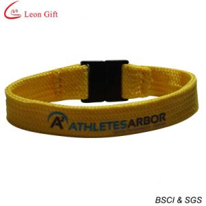 Polyester Tubular Wristband with Safety Clip (LM1490) pictures & photos