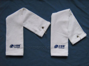 Custom Logo Embroidery Logo Cotton Golf Towel pictures & photos
