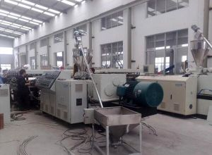 Wood Plastic Profile Extrusion Line pictures & photos