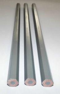 """7""""Lead Colored Plastic Pencil-Silver Gray"""