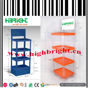 Supermarket Plastic Tier Display Stand pictures & photos