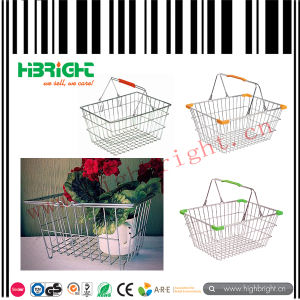 Store Metal Wire Shopping Basket pictures & photos