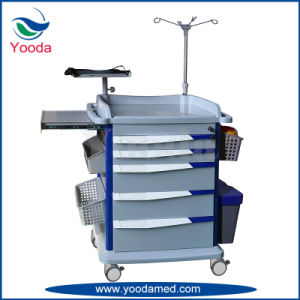Hospital Medical Furniture ABS Emergency Trolley pictures & photos