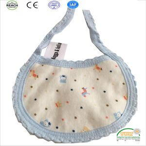 New Arrival Superior Cotton Handfeel Waterproof Lively Animal Pattern Muslin Baby Bibs pictures & photos