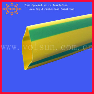 Yellow Green Stripped Heat Shrink Tube pictures & photos