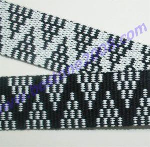 Spun Polyester Jacquard Webbing#1412-27 pictures & photos
