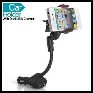 Universal Smart Cell Mobile Phone Car Holder Mount with Dual USB pictures & photos