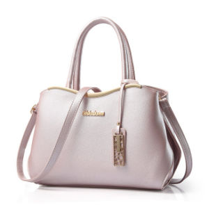 Women PU Leather Handbag Tote Shoulder Luxury Lady Leather Bag pictures & photos