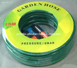 PVC Plastic Flexible Reinforced Fiber Braided Water Garden Hose pictures & photos