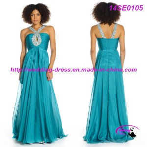 Charming Full Length Chiffon Prom Dress with Zipper Back pictures & photos