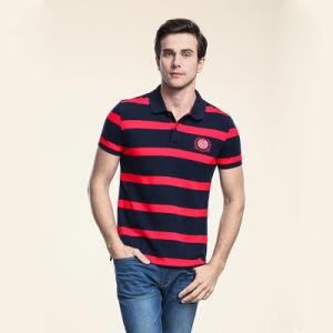 Cotton Polo Shirt Dry Fit Men′s Stripe Golf Polo Shirt pictures & photos