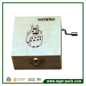 Custom Hand Cranked Wooden Music Box with Totoro pictures & photos